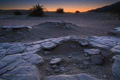 Broken Tiles Death Valley Mesquite Dunes