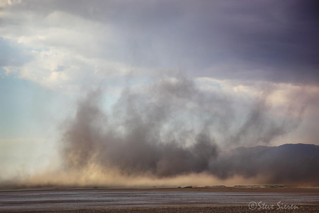 Larger then Life - Giant Sand Storm on the Salt Flats.  The first small layer is about 100 feet high.