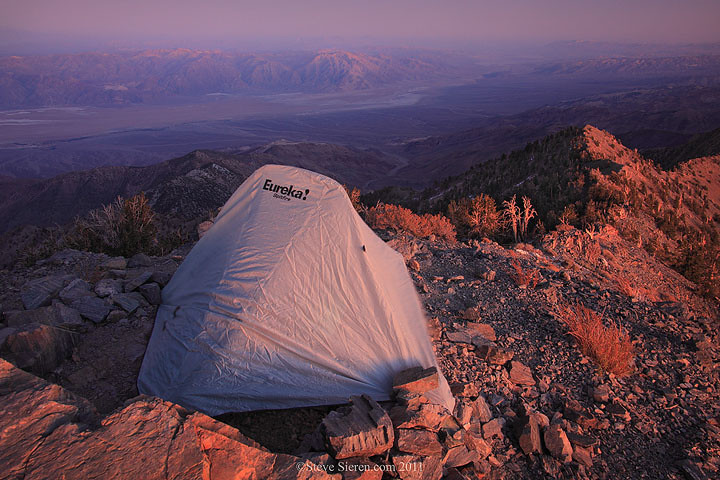 Backpacking on Telescope Peak amongst the bristlecone pines, in Death Valley's highest point at 11,049 ft.