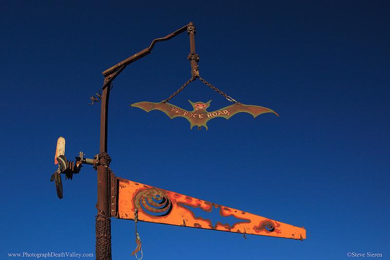 Batrock road sign in Death Valley