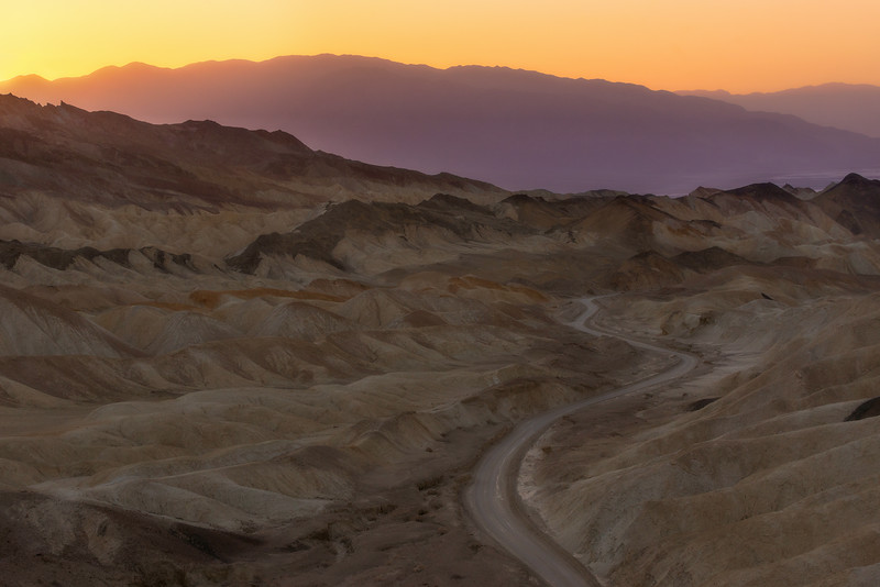 20 Mule Team Canyon, Death Valley, California.