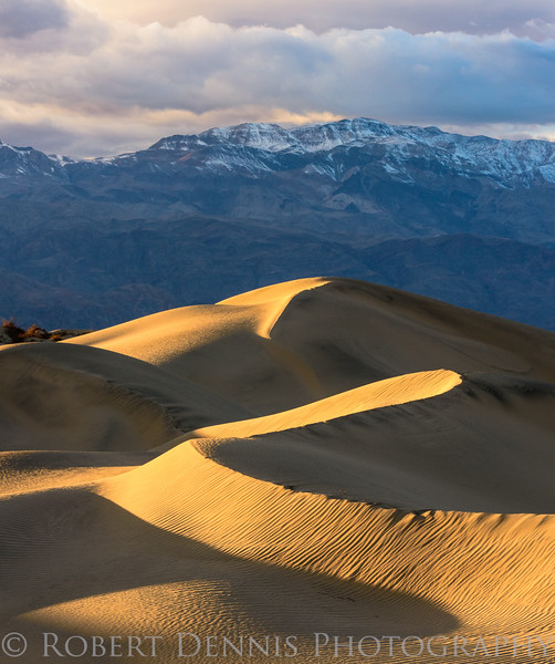 Mesquite Dunes, Death Valley, sunset