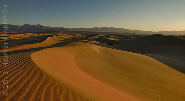 Mesquite Dunes, just at dawn