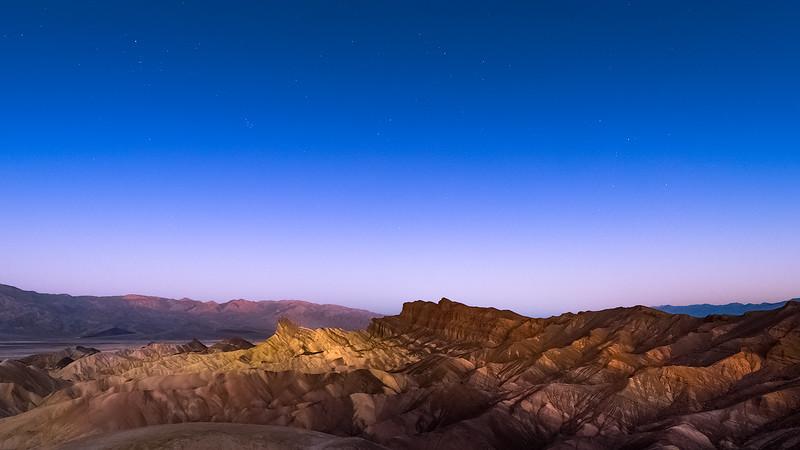 Zabriskie point, Death Valley at dawn