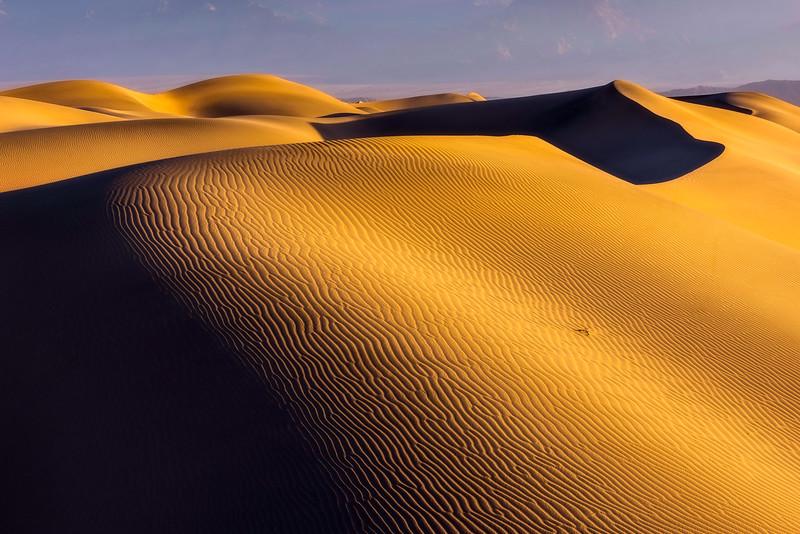 Mesquite Dunes detail. Death Valley, California.