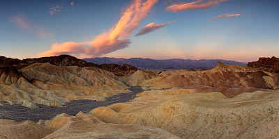 Zabriski Point Panorama at Sunrise