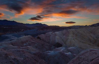 Sunrise Zabriskie Point, Death Valley NP, CA.