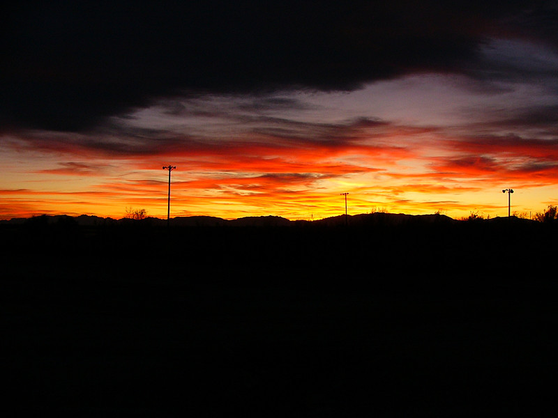 Looking West from south side of Holloman AFB.