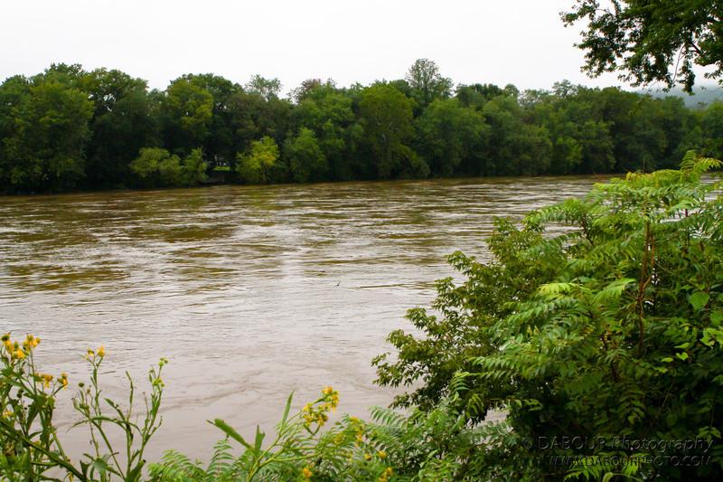 At Riegelsville bridge looking north