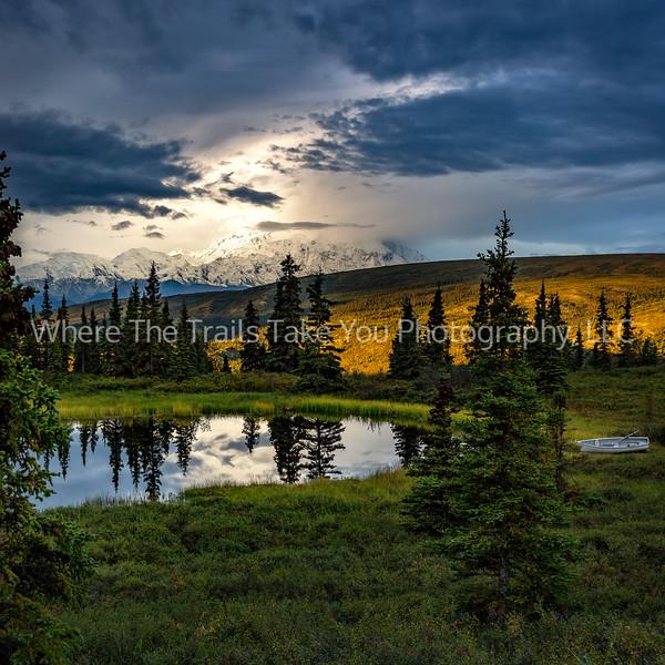 19.  A Stormy Denali Sunrise