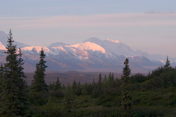 Mountains of the Alaska Range, just to the south of Denali, which you can see rising just at the left edge of the photograph.