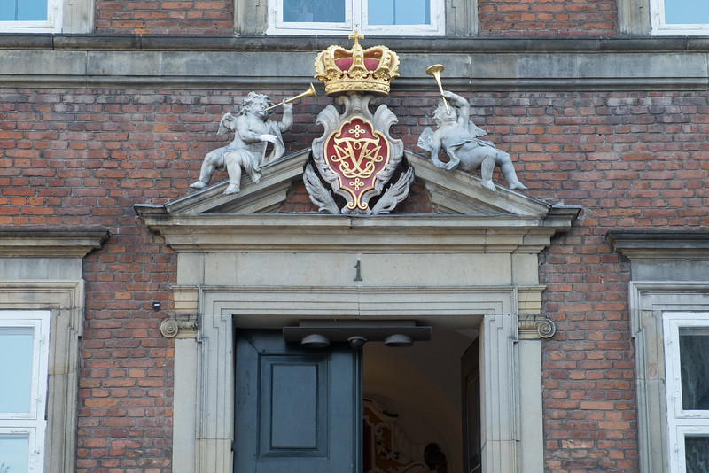 Denmark's kings liked to mark their buildings. This one was built by Frederick IV