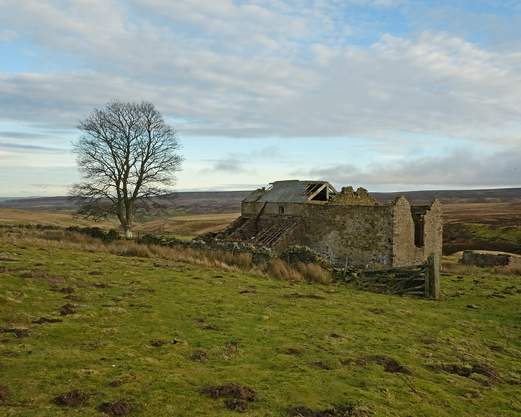 Derelict Farm in the Northumberland hills