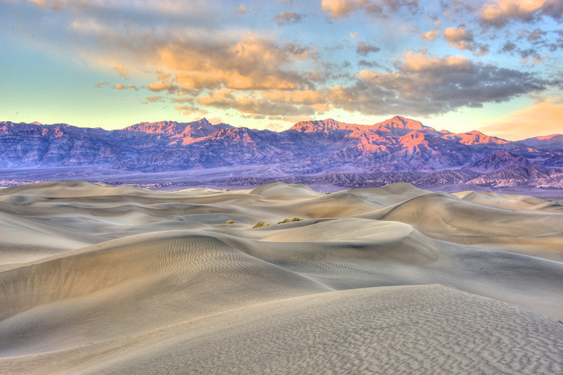 End of the day and sunset in Death Valley.
