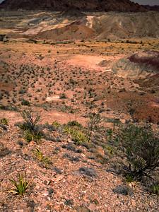 Badlands found near the west gate of Big Bend National Park