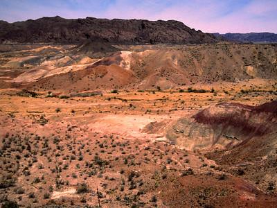 """Big Bend Badlands desert landscape""  The Badlands can be found shortly after entering the park from Terlingua on the west side of the Park."