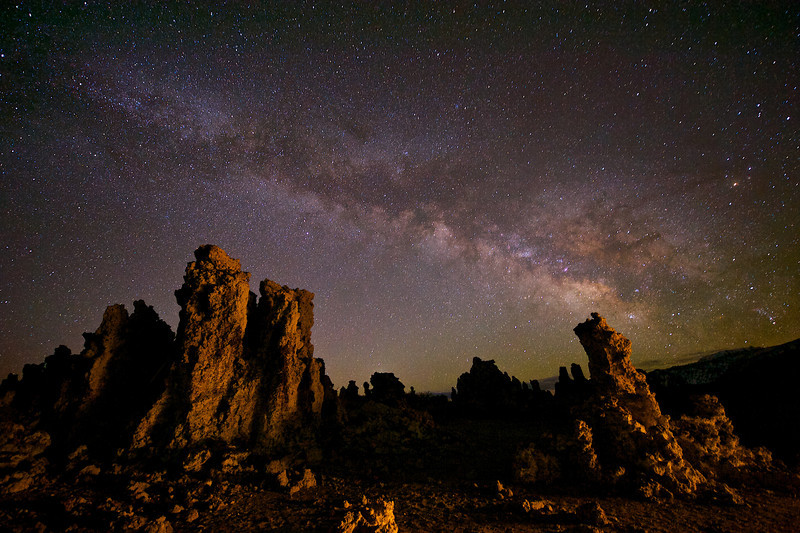 Milky Way galaxy over Mono Lake California.