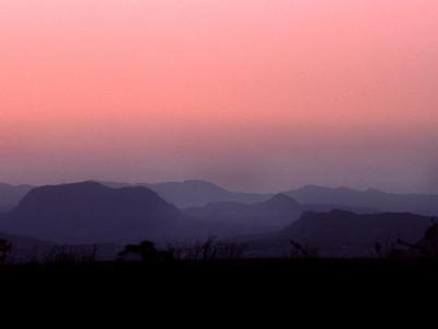 Chihuahuan desert at sunset