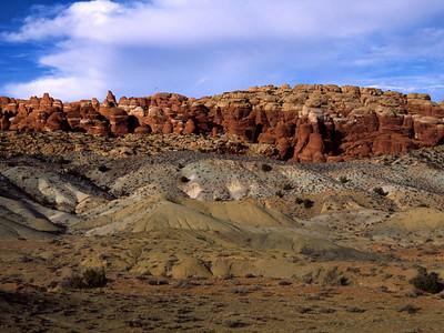 Desert landscape in Arches National Park