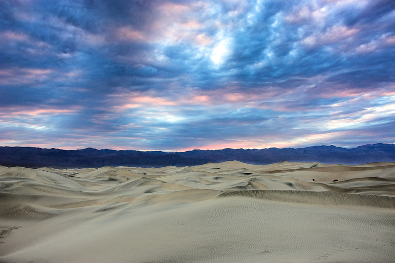 Sunset clouds in Death Valley.