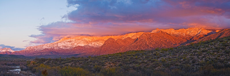 7) Santa Catalina Mountains Dusk 201001231647