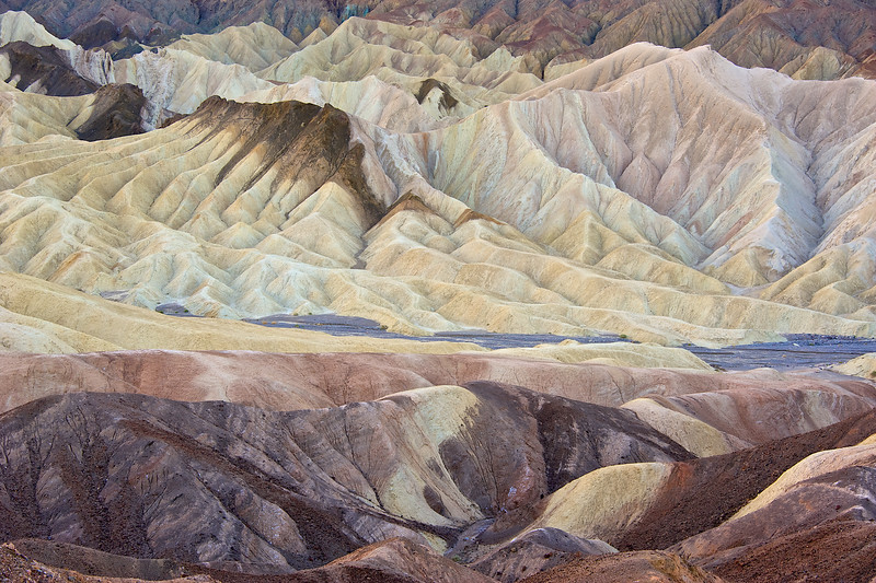 Death Valley exhibits amazing colors and textures in the granite rocks and sandstone.
