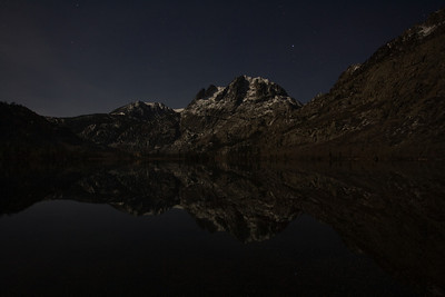 Silver Lake at night, High Sierra, California. December.