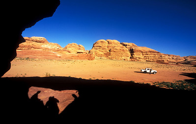 The sandstone hills of Wadi Rum, Jordan
