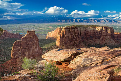 Grand View overlook, Colorado National Monument, Grand Junction, Colorado