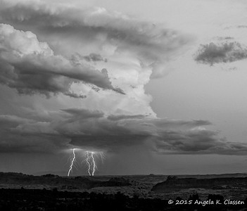 Lightning, Arches National Park, Utah
