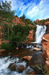 Faux Falls and stream, Moab, Utah