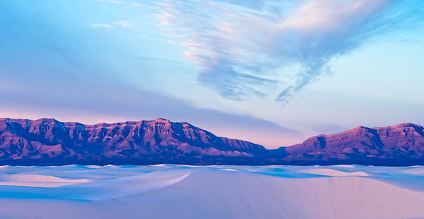 White Sands Mountains & Dunes Panorama