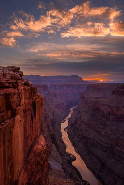 Toroweap Sunrise. North Rim, Grand Canyon, AZ.