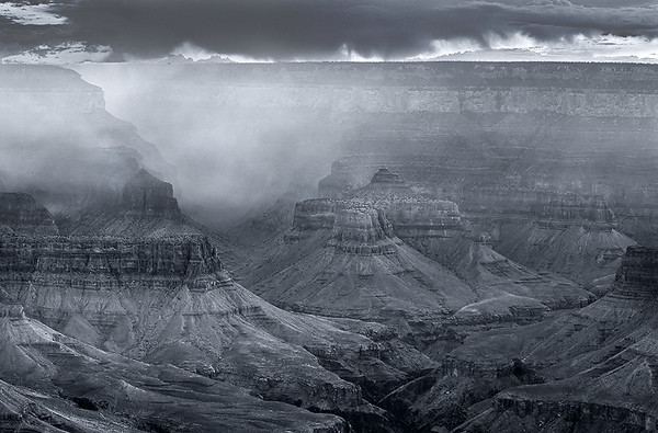 Foggy Sunrise, Yaki Point,<br /> Grand Canyon National Park, AZ