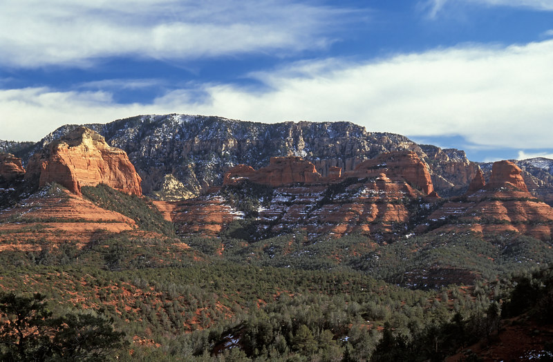 View looking down from inside Wilson Canyon, Sedona Arizona.  This was taken in February.
