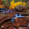 Canyon Waterfall,<br /> Zion, Utah.