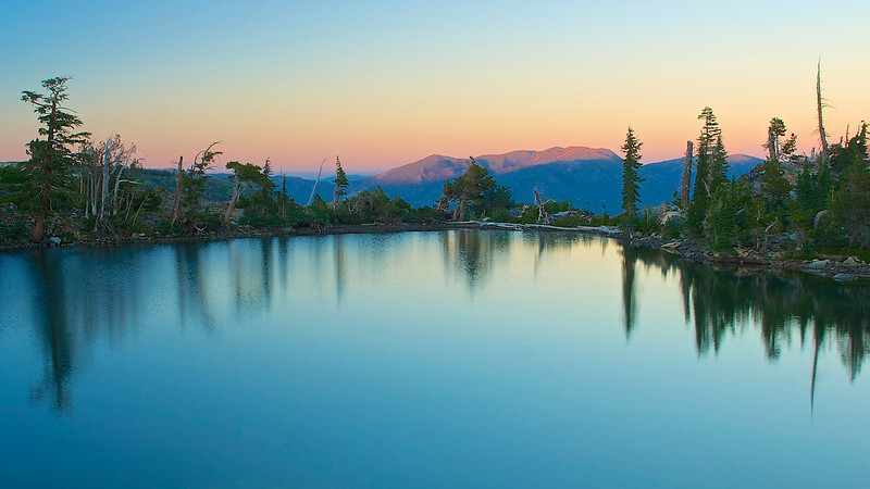 Sunset, Jabu Lake, Desolation Wilderness