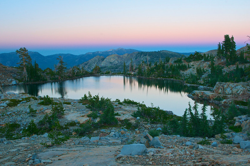 Dusk, Jabu Lake, Desolation Wilderness