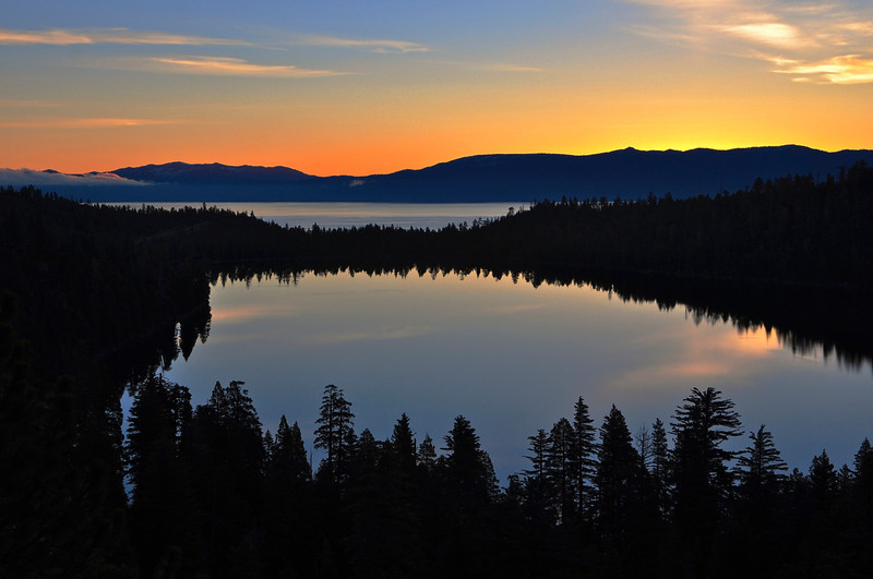 Cascade Lake Sunrise, Lake Tahoe, CA.