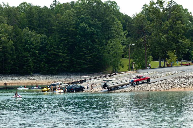 Boat ramps at Devils Fork State Park.