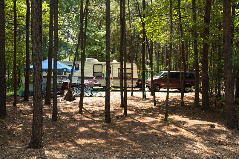 One of 59 RV sites at Devils Fork State Park.