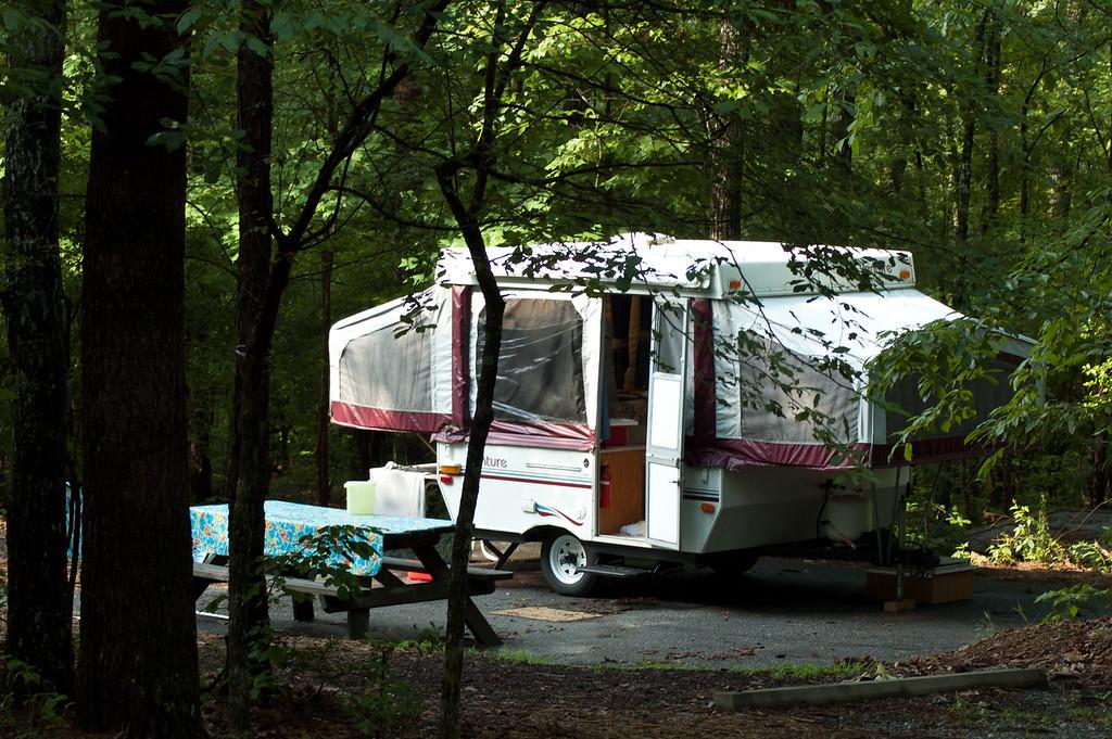 Camper trailer at Devils Fork State Park.