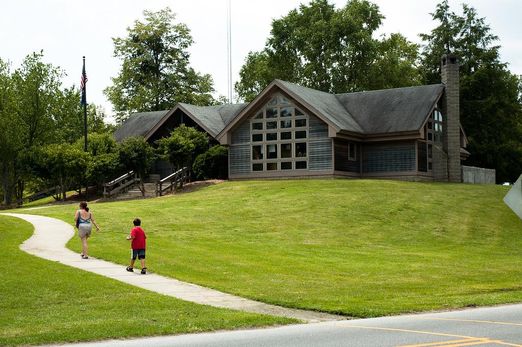 Administration building at Devils Fork State Park.
