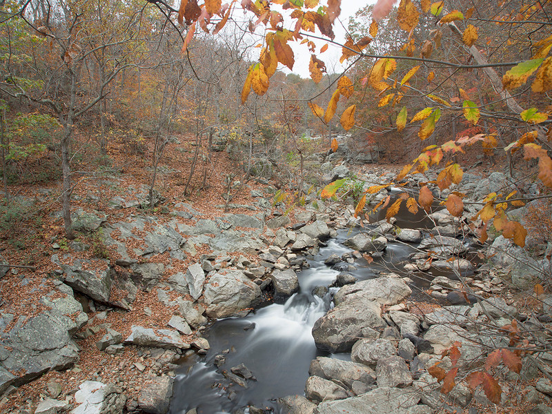 "Looking upstream of the ""big"" falls<br /> <br /> Difficult Run<br /> Fairfax County, VA<br /> October 2012"