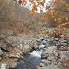 "Looking upstream of the ""big"" falls<br /> <br /> Difficult Run<br /> Fairfax County, VA<br /> October 2012"