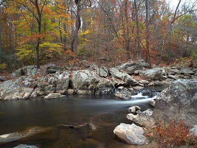 Fall colors & stream swirly!  Difficult Run Fairfax County, VA October 2012