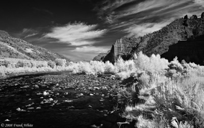North Fork, Shoshone River west of Cody Wyoming IR