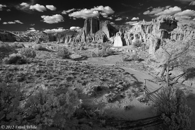 Plaza Blanco (The White Place), near Abiquiu, New Mexico. Digital IR.