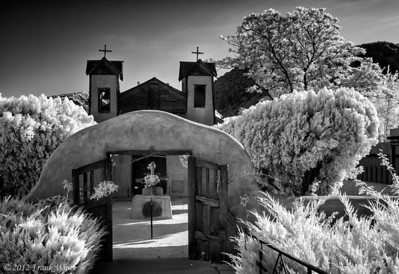 The church at Chimayo, New Mexico. Digital IR.