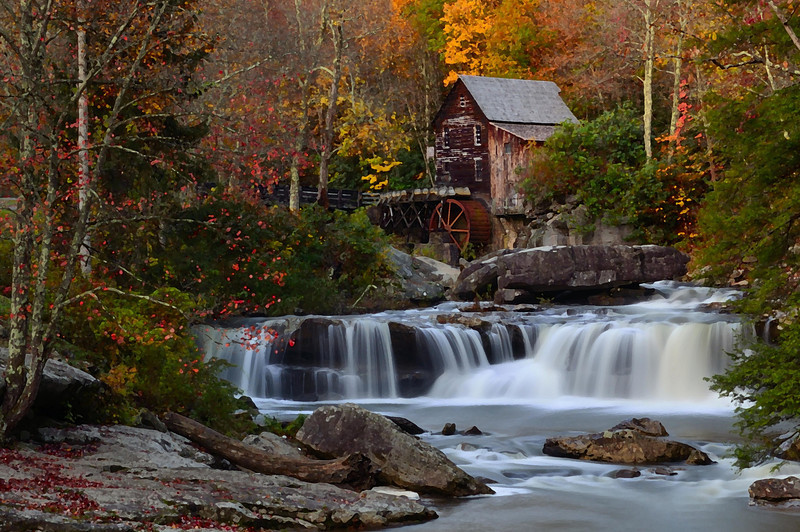 Glade Creek Grist Mill<br /> Babcock State Park<br /> Clifftop, W Va